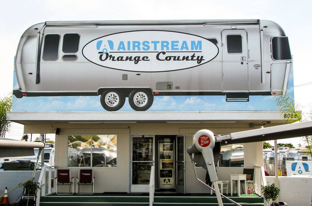 Airstream Orange Country Graphic Wraps