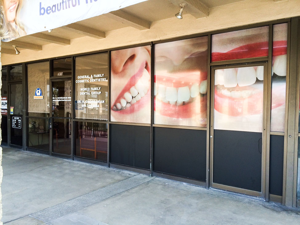 Dental Window Wrap Full Sail Graphics - Window decals for dental office