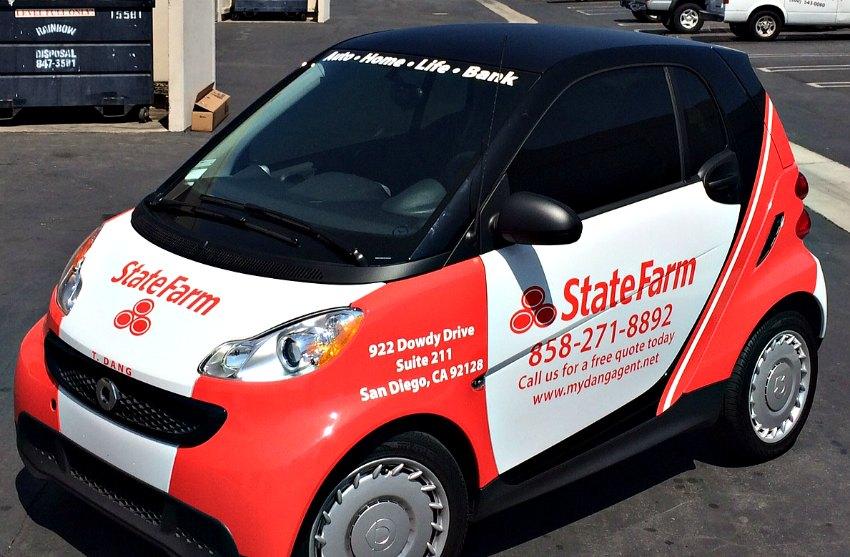 State Farm Quote Car Adorable Statefarm Smart Car  Full Sail Graphics