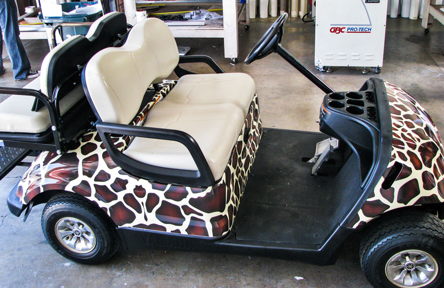 Safari Golf Cart Wrap Full Sail Graphics