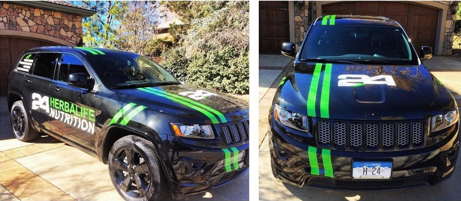 Herbalife Nutrition Jeep Grand Cherokee Full Sail Graphics