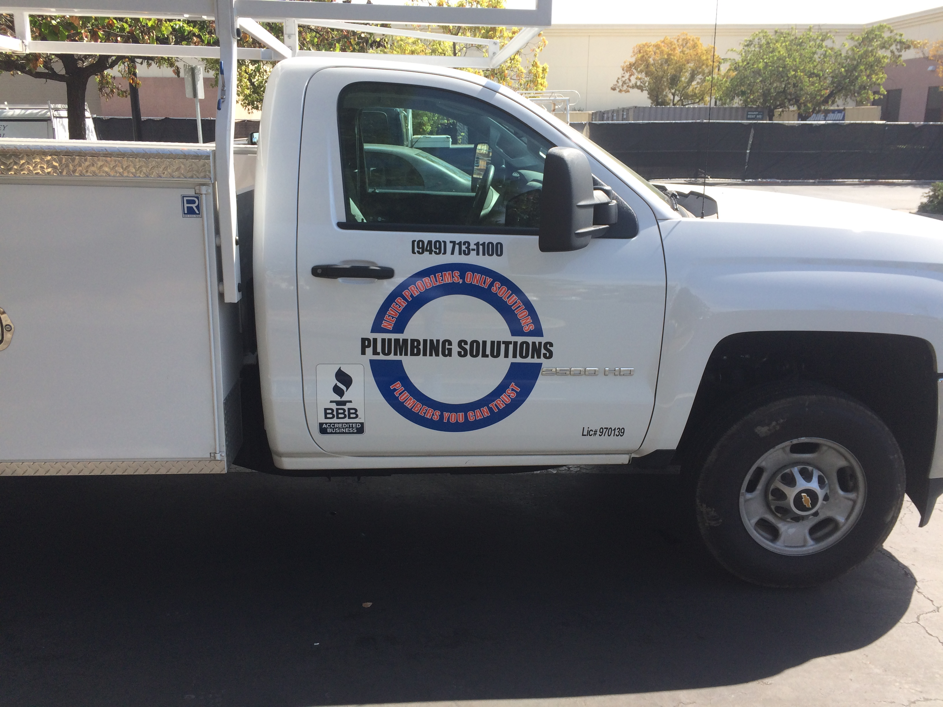 Plumbing Solutions Fleet Wrap