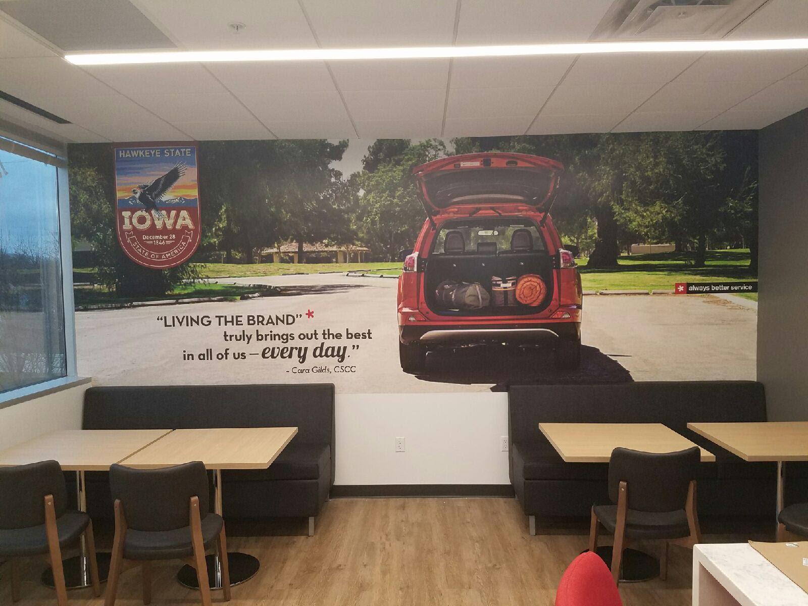 Toyota Financial Wall Graphics. Interior