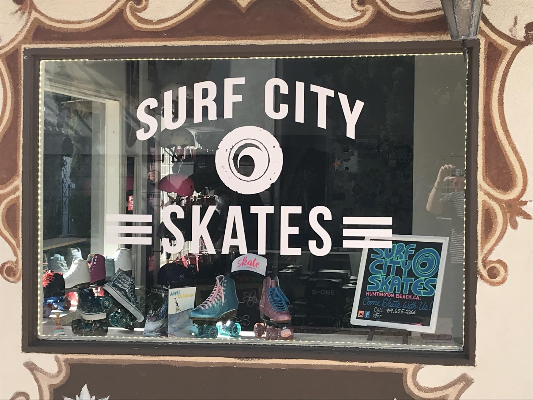Surf City Skates Window Graphic
