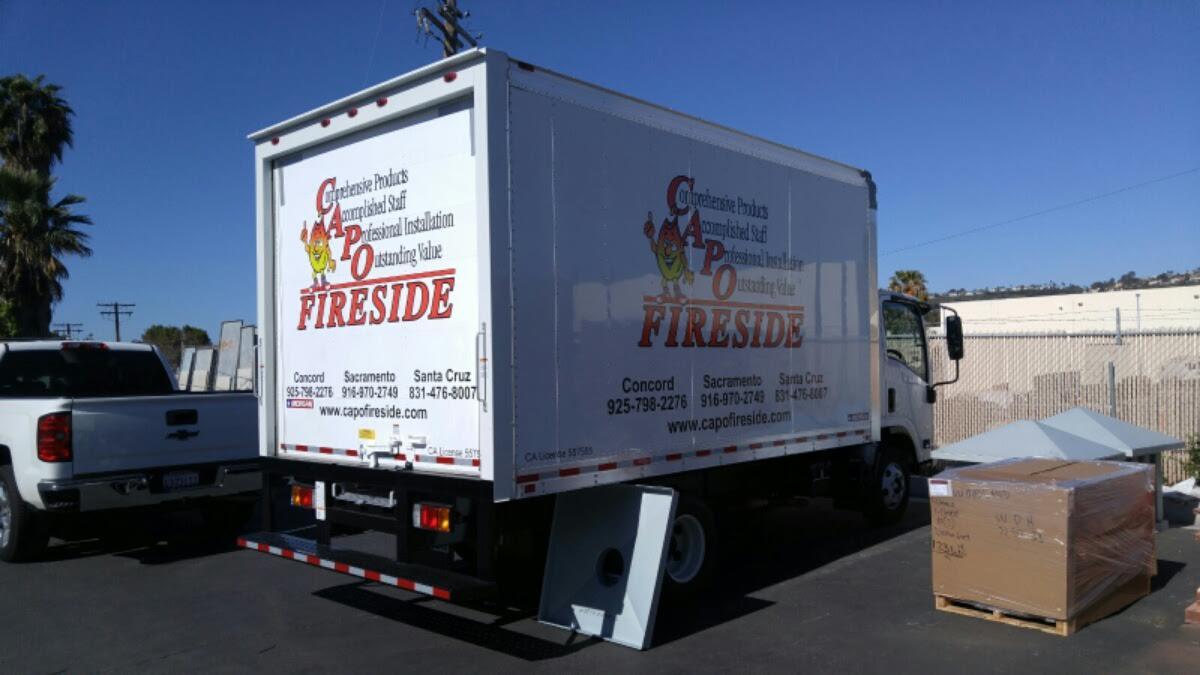 Capo Fireside Semi Truck Wrap